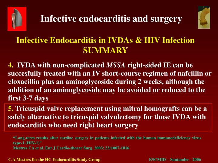 Infective Endocarditis in IVDAs & HIV Infection