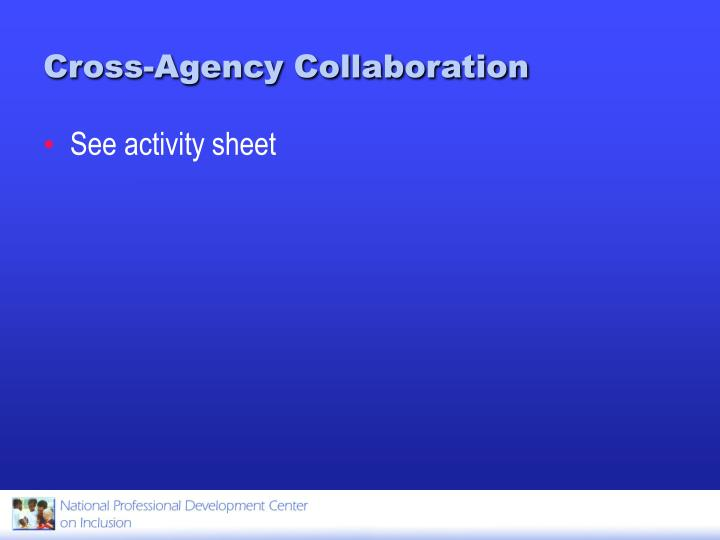 Cross-Agency Collaboration