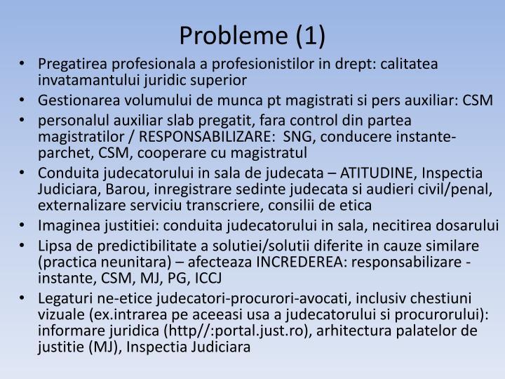 Probleme (1)
