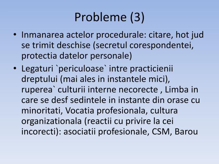 Probleme (3)
