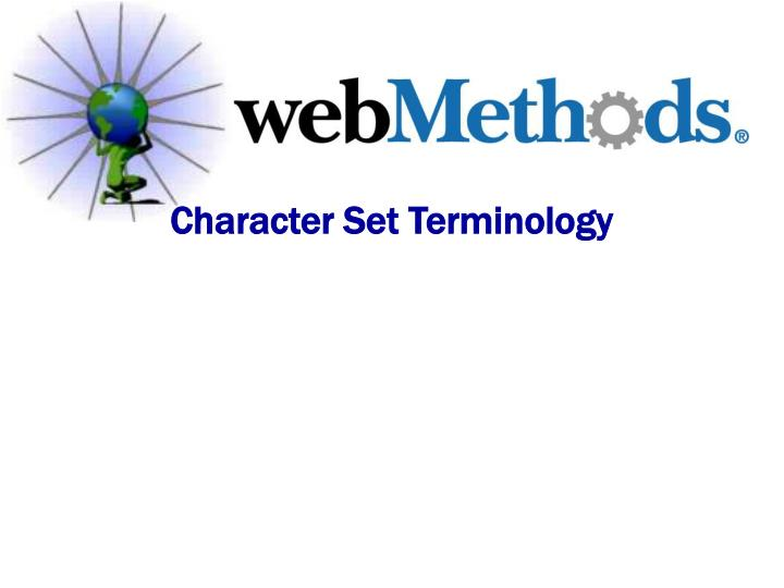 Character Set Terminology