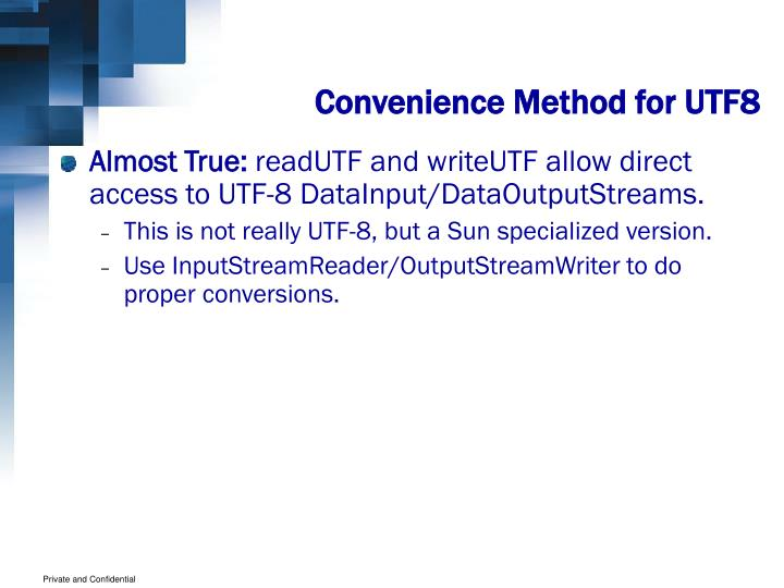 Convenience Method for UTF8