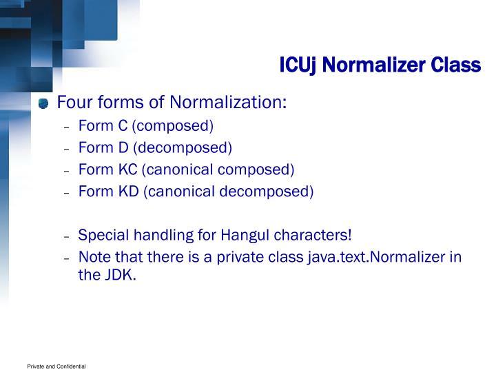 ICUj Normalizer Class