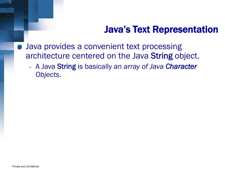 Java's Text Representation