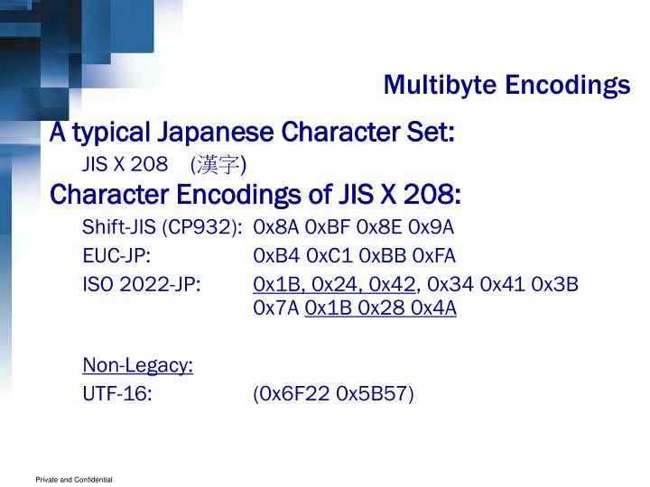 Multibyte Encodings