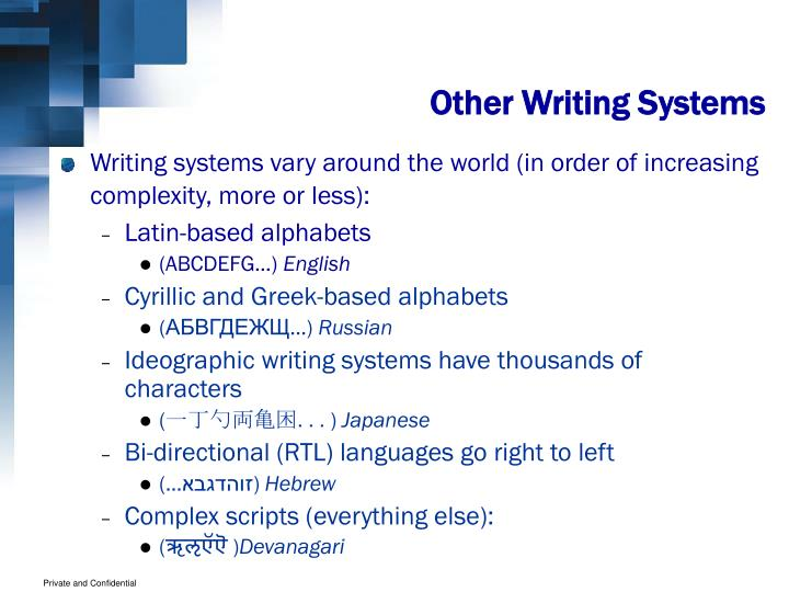 Other Writing Systems