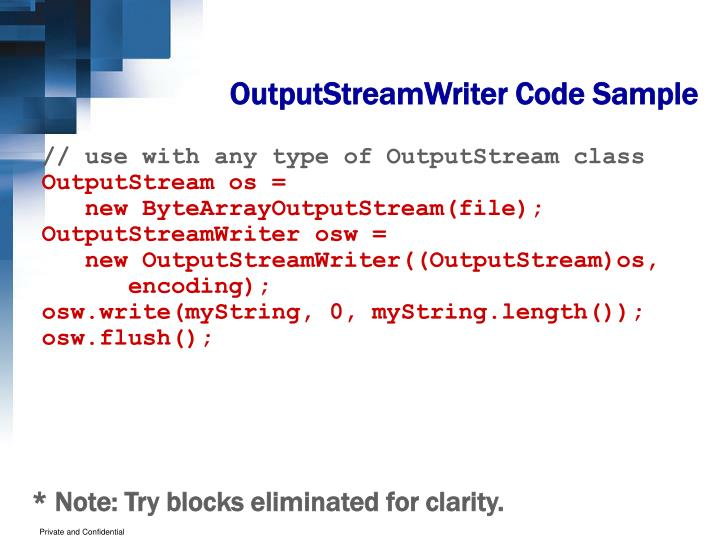 OutputStreamWriter Code Sample