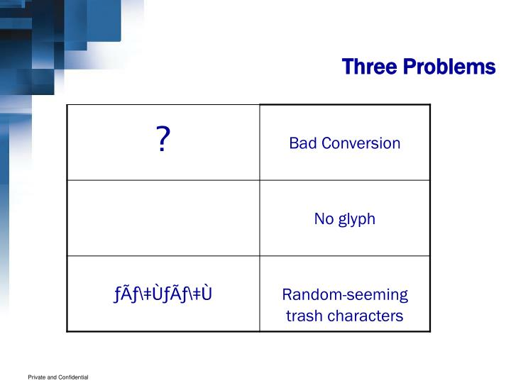 Three Problems