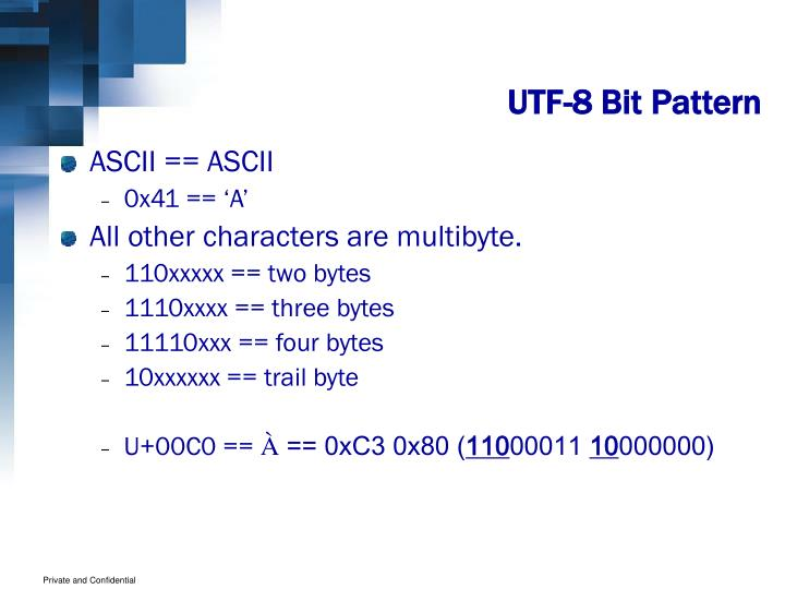 UTF-8 Bit Pattern