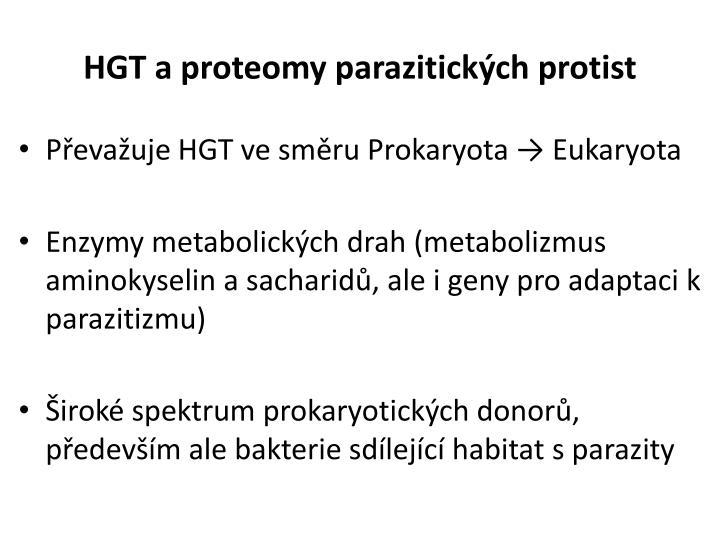 HGT a proteomy parazitických protist