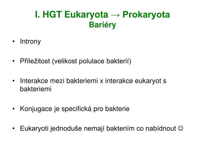 I. HGT Eukaryota