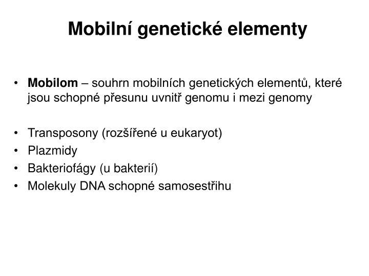 Mobilní genetické elementy