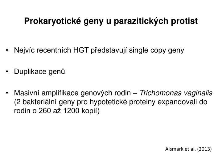 Prokaryotické geny u parazitických protist
