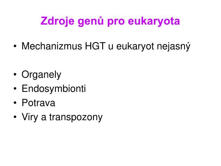 Zdroje genů pro eukaryota