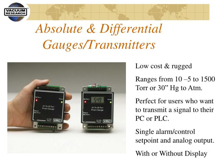 Absolute & Differential Gauges/Transmitters