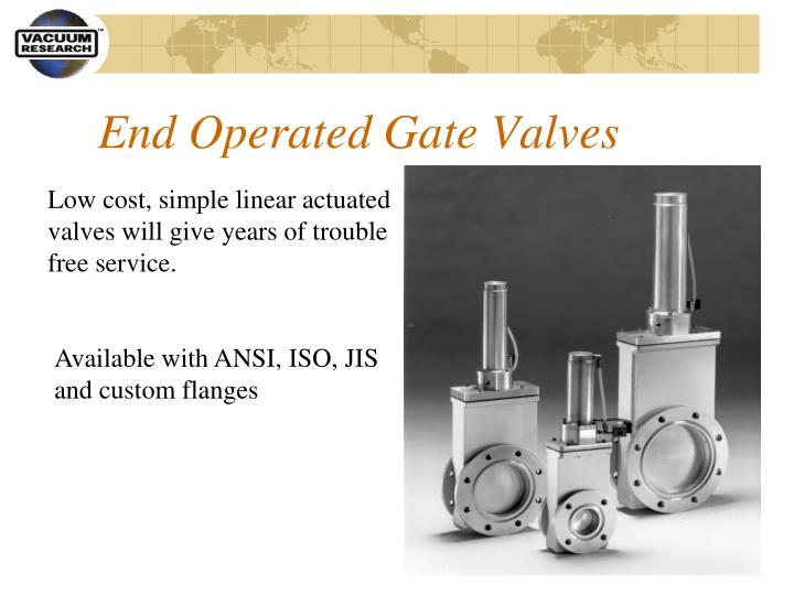 End Operated Gate Valves