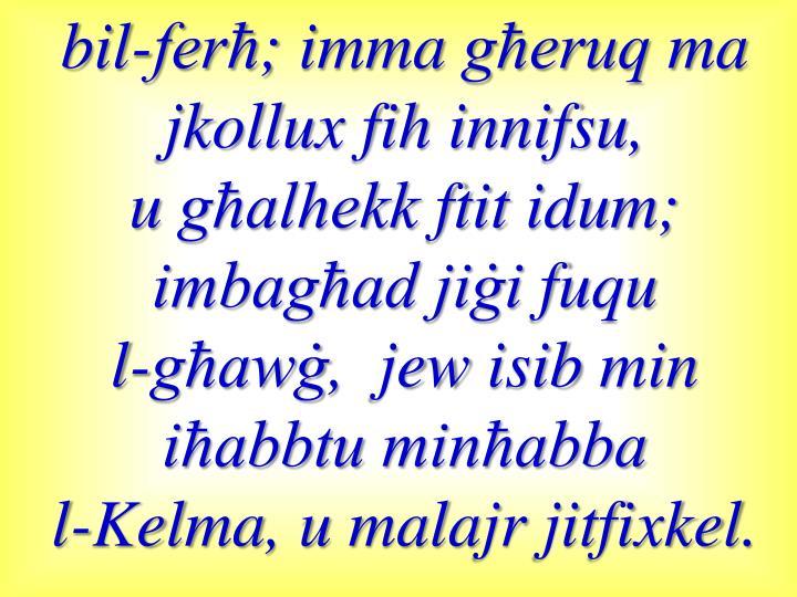bil-ferħ