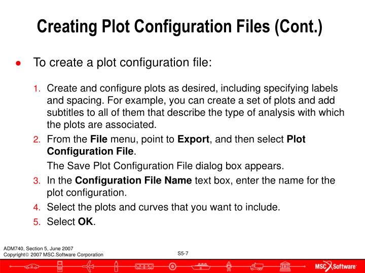Creating Plot Configuration Files (Cont.)