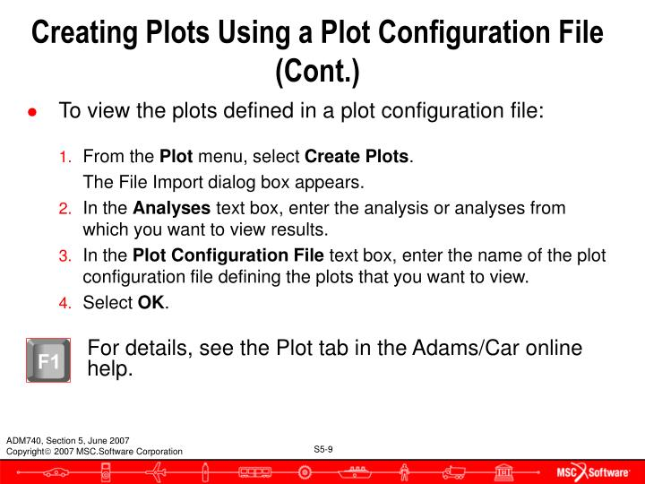 Creating Plots Using a Plot Configuration File (Cont.)