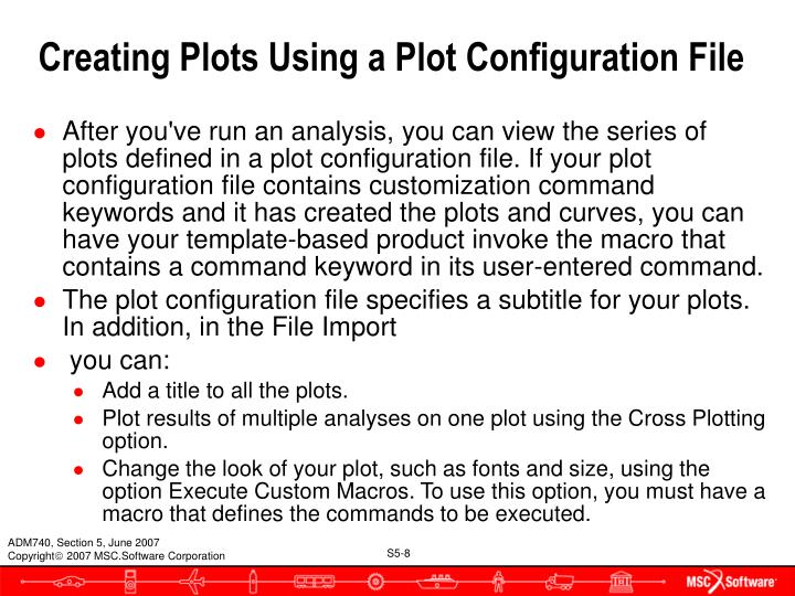Creating Plots Using a Plot Configuration File