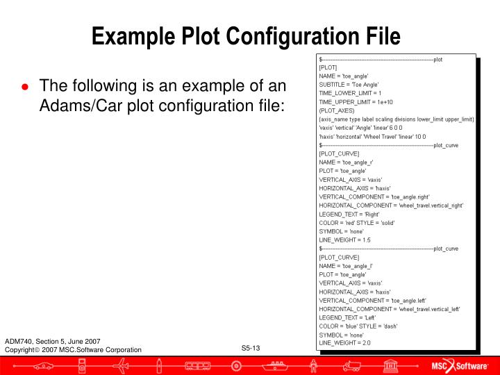 Example Plot Configuration File