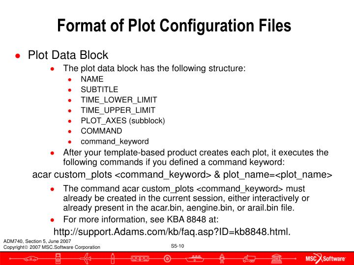 Format of Plot Configuration Files