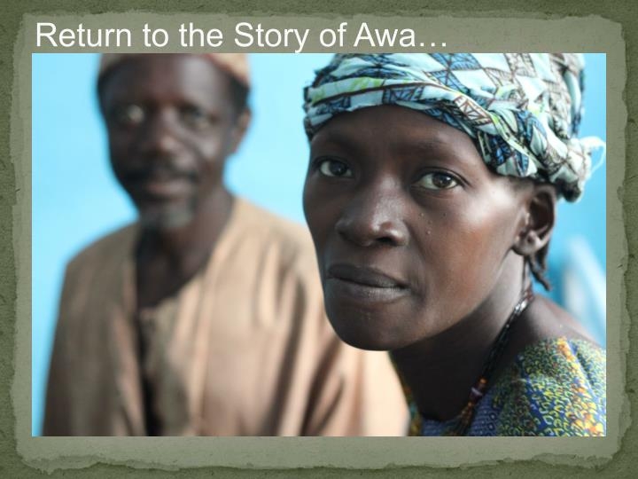 Return to the Story of Awa…