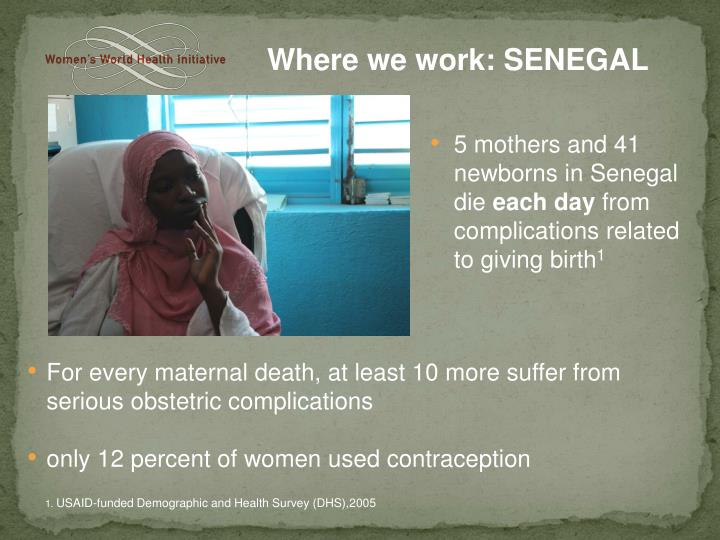 Where we work: SENEGAL