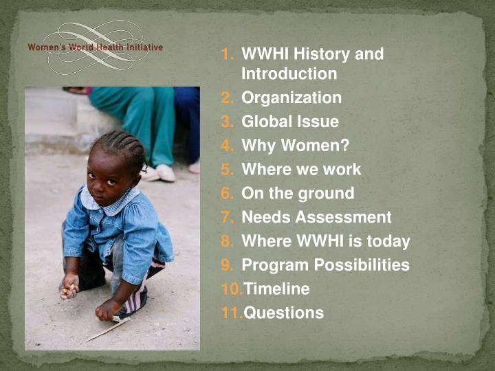 WWHI History and Introduction