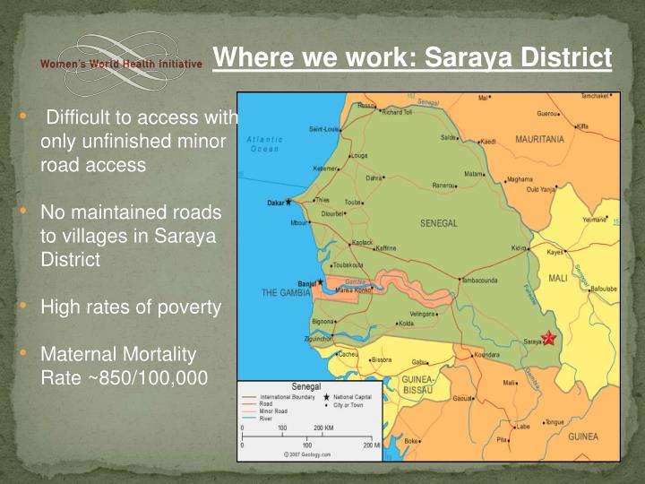 Where we work: Saraya District