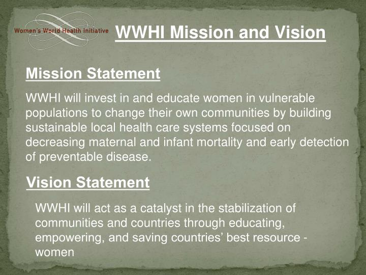 WWHI Mission and Vision
