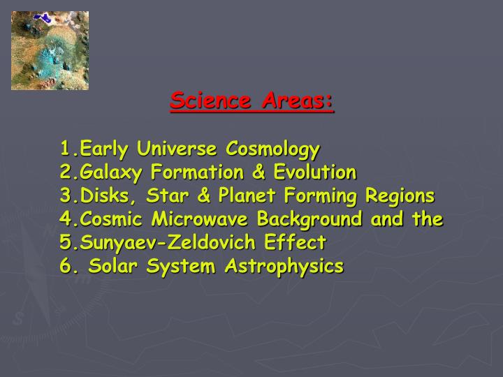 Science Areas: