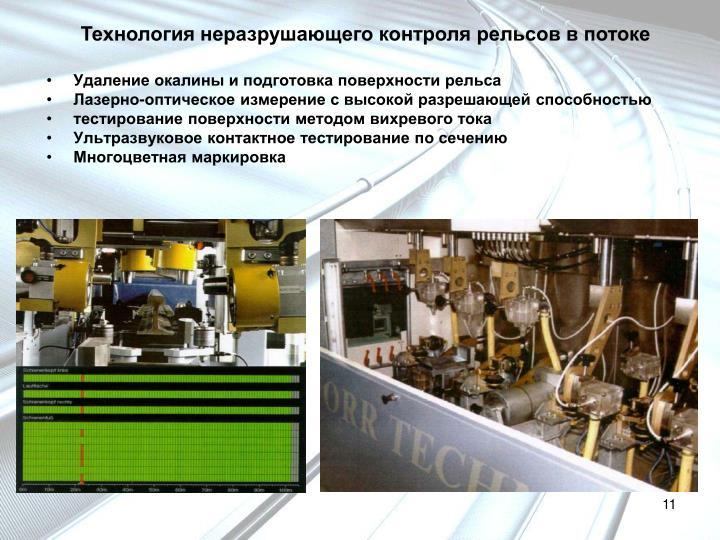 Технология неразрушающего контроля рельсов в потоке