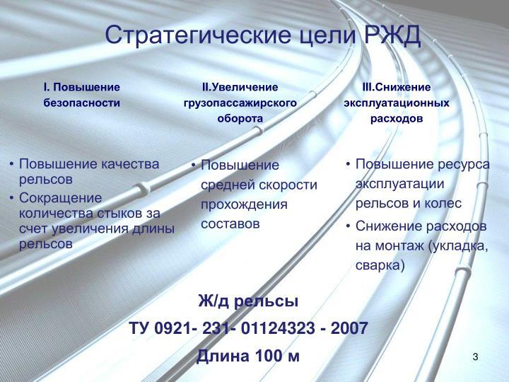 Стратегические цели РЖД