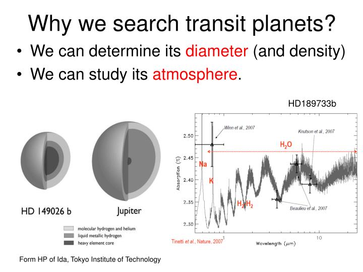 Why we search transit planets?