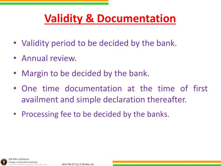 Validity & Documentation