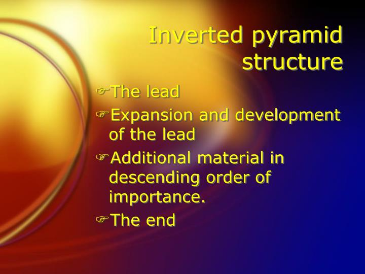 Inverted pyramid structure