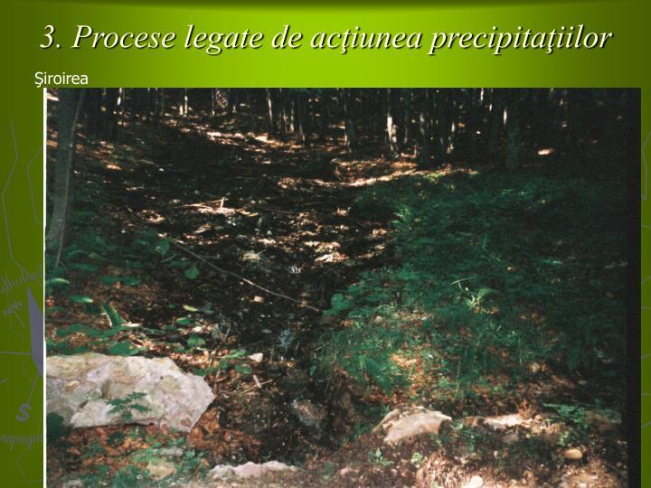 3. Procese legate de acţiunea precipitaţiilor