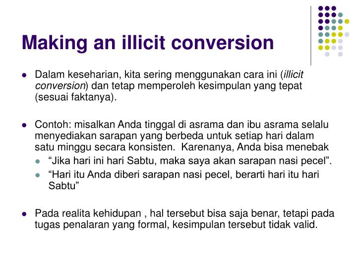 Making an illicit conversion