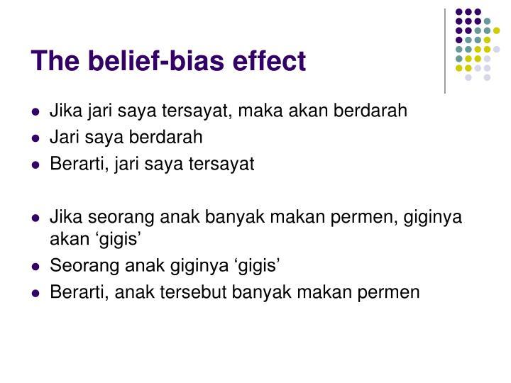 The belief-bias effect