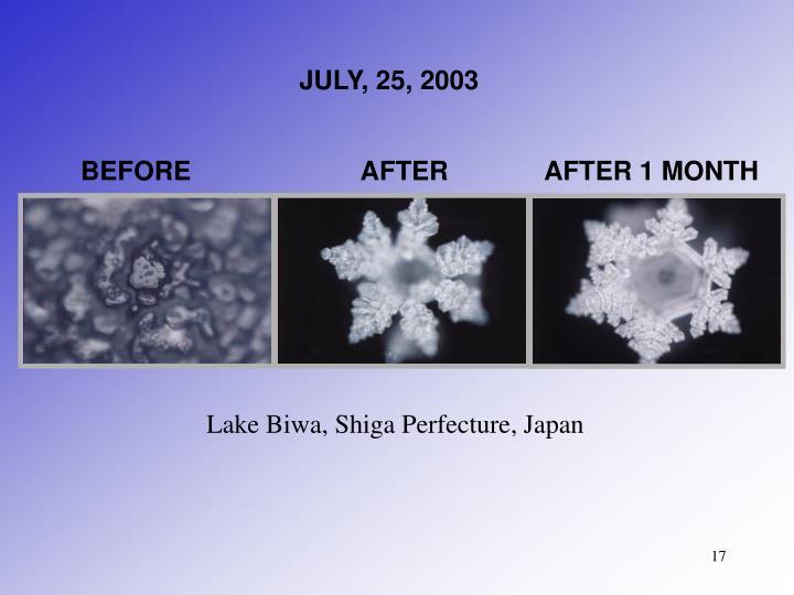JULY, 25, 2003