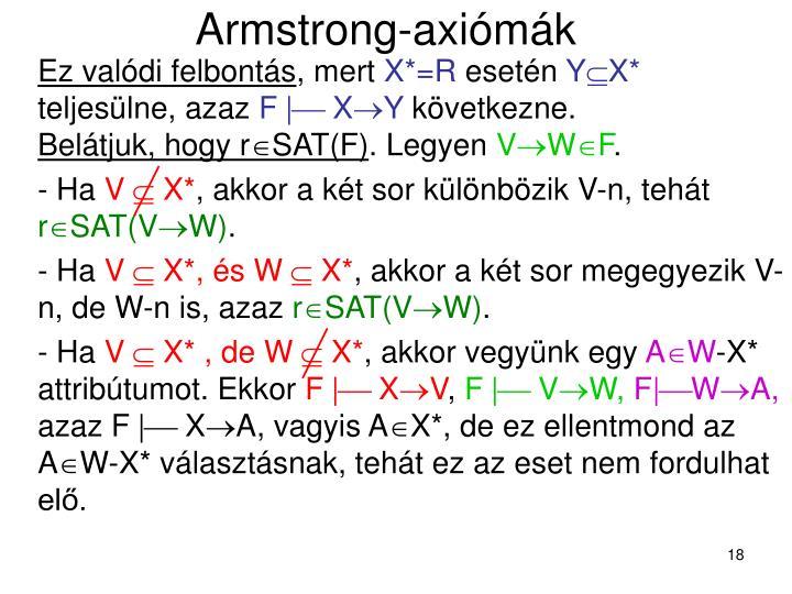 Armstrong-axiómák