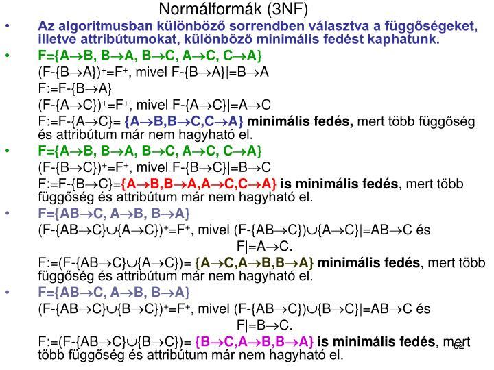 Normálformák (3NF)