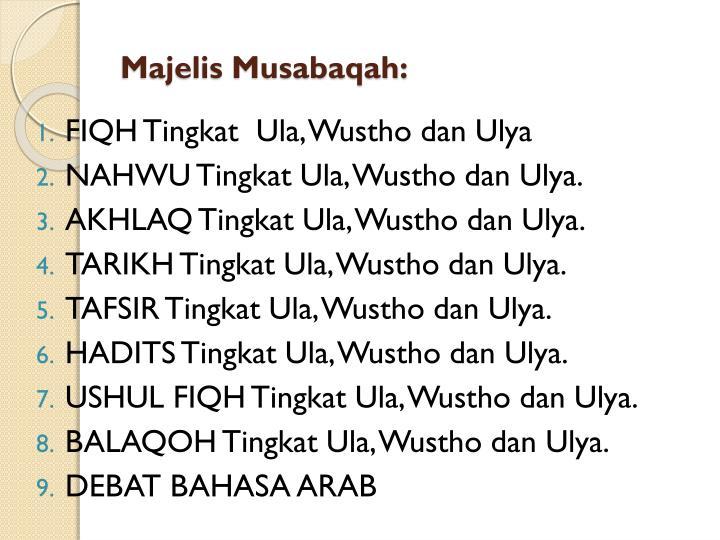 Majelis Musabaqah: