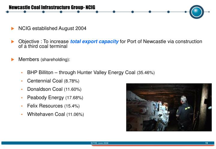 Newcastle Coal Infrastructure Group- NCIG