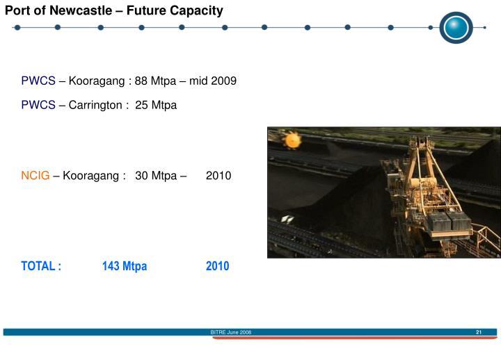 Port of Newcastle – Future Capacity