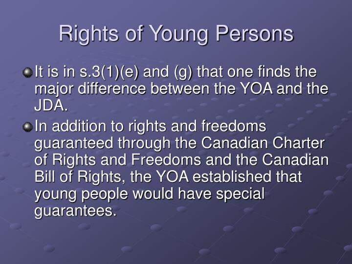 Rights of Young Persons