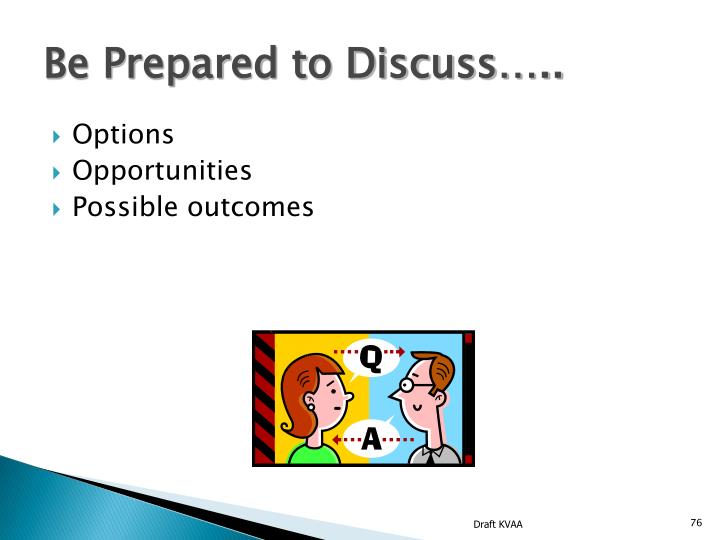 Be Prepared to Discuss…..