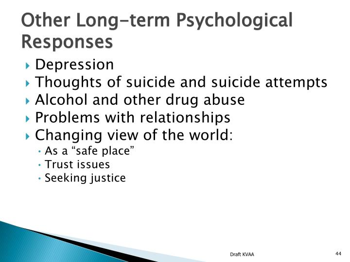 Other Long-term Psychological Responses