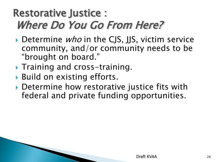 Restorative Justice :